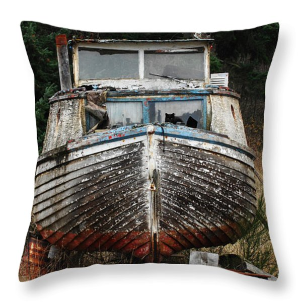 Needing Work Throw Pillow by Bob Christopher