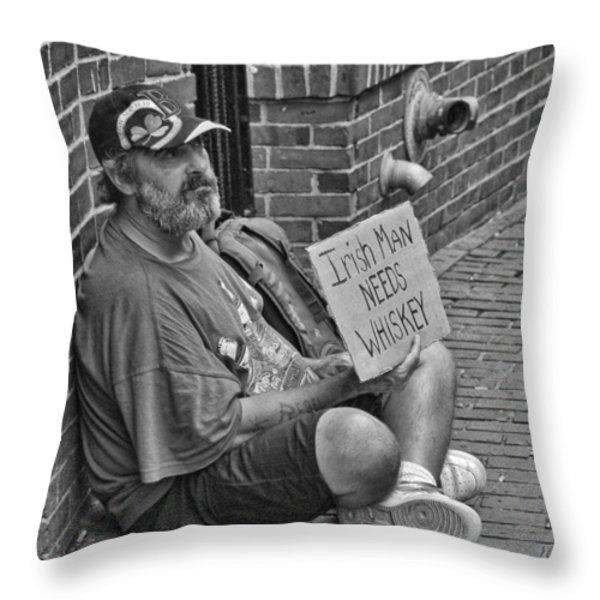 Needs Whiskey Throw Pillow by Joann Vitali