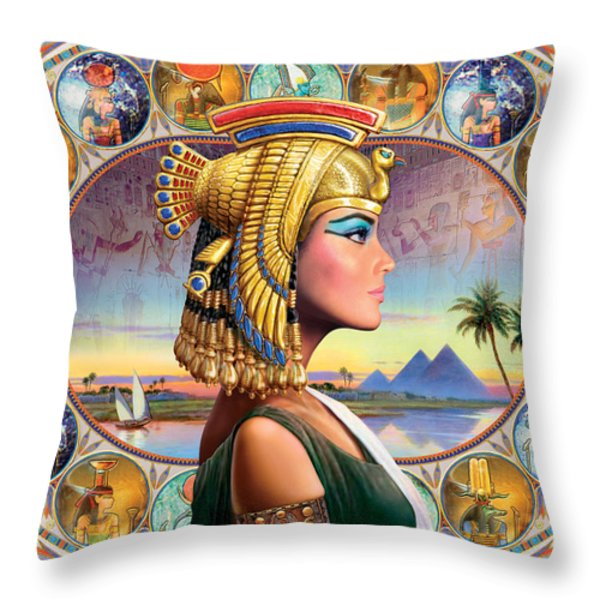 Nefertari Variant 3 Throw Pillow by Andrew Farley