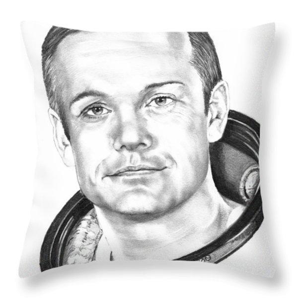 Neil Armstrong Throw Pillow by Murphy Elliott