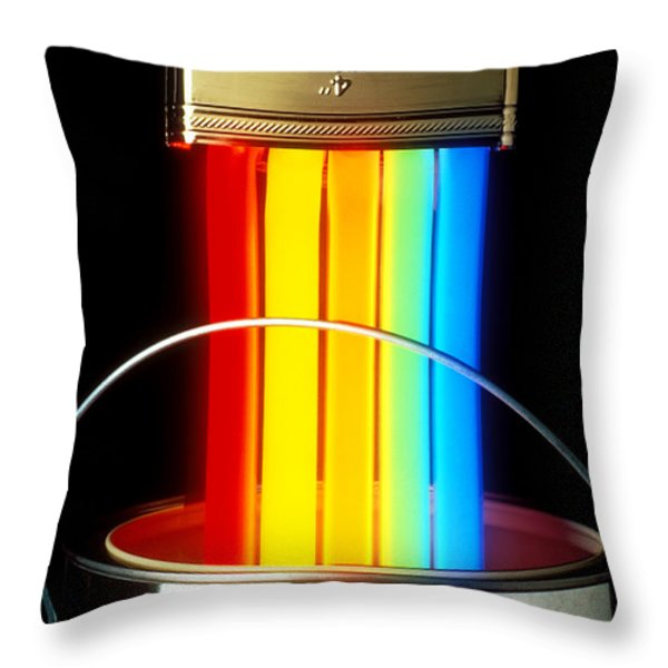 Neon Paintbrush Throw Pillow by Garry Gay