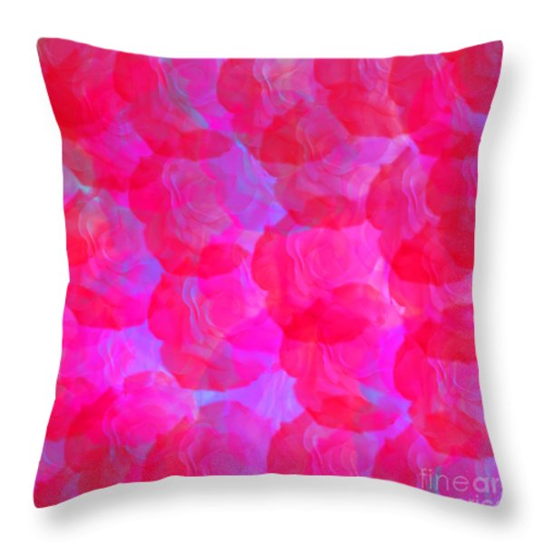Neon Roses Throw Pillow by Susan Stevenson