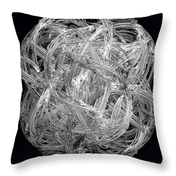 Network Throw Pillow by Michael Durst