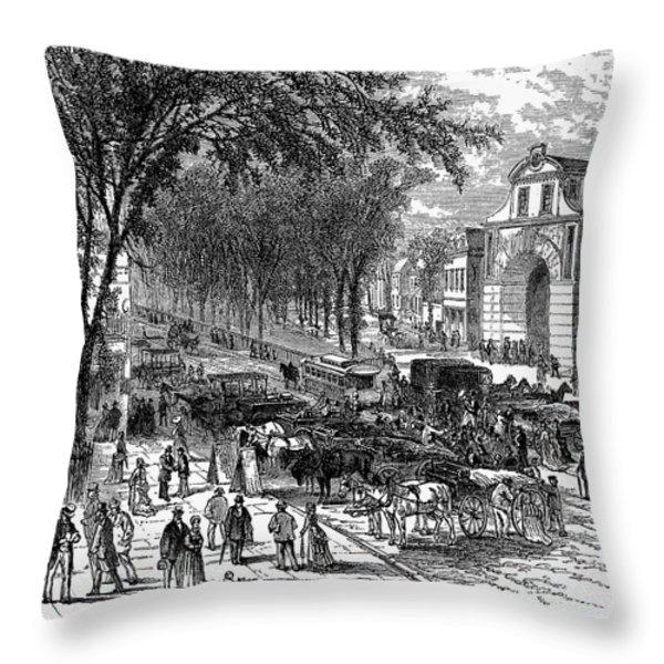 New Jersey: Newark, 1876 Throw Pillow by Granger