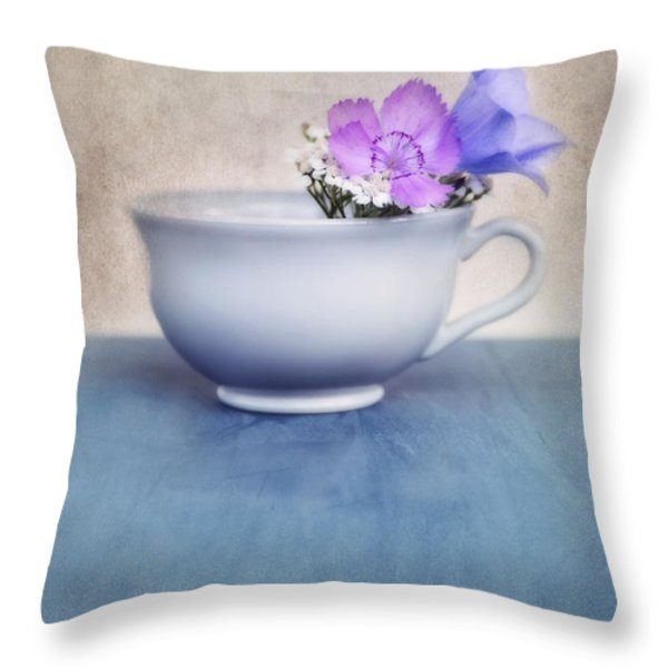 new life for an old coffee cup Throw Pillow by Priska Wettstein