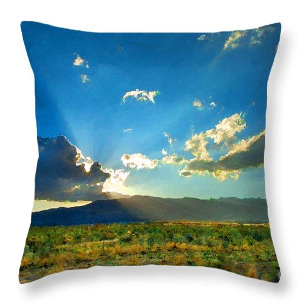 New Mexico Desert Throw Pillow by Betty LaRue