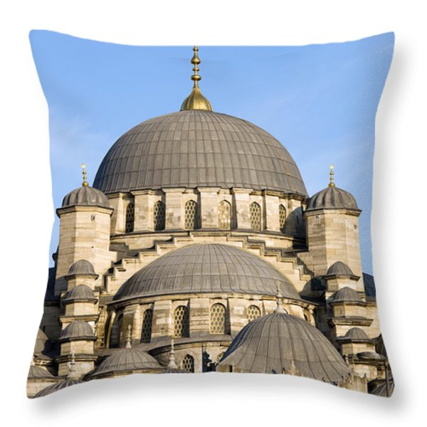 New Mosque In Istanbul Throw Pillow by Artur Bogacki