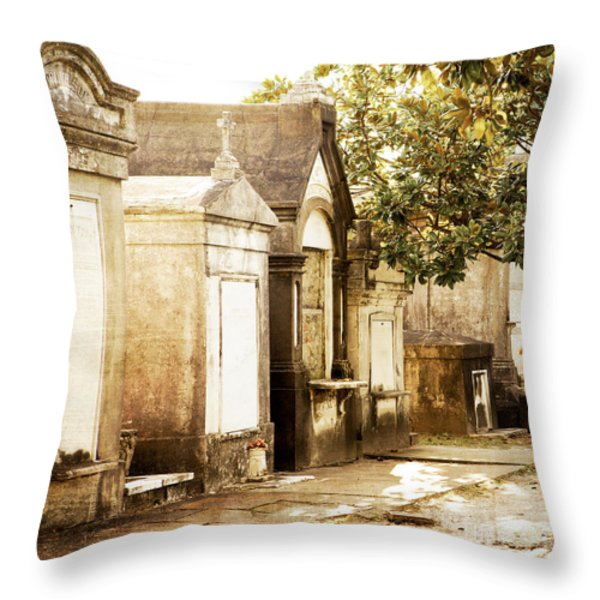 New Orleans Lafayette Cemetery No.1 Throw Pillow by Kim Fearheiley