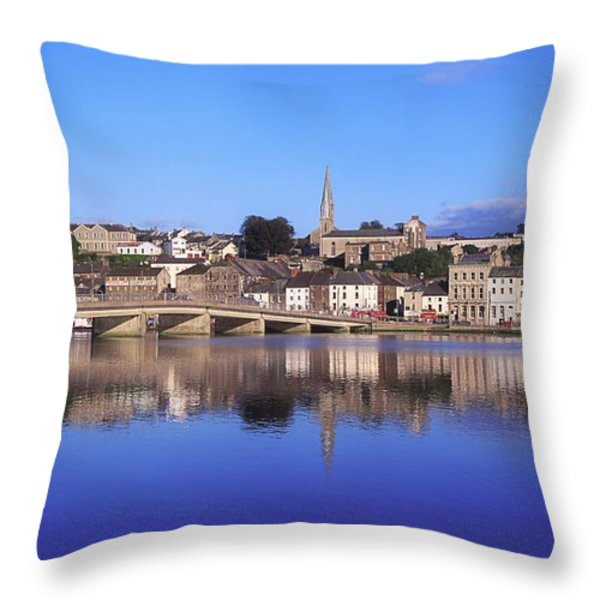 New Ross, Co Wexford, Ireland Throw Pillow by The Irish Image Collection