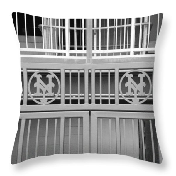 NEW YORK METS JAIL Throw Pillow by ROB HANS
