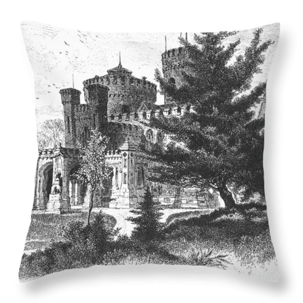 New York State: Castle Throw Pillow by Granger