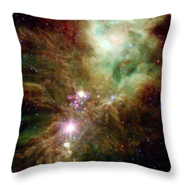Newborn Stars In The Christmas Tree Throw Pillow by Stocktrek Images