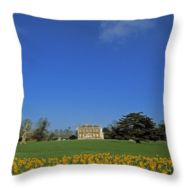 Newbridge House, Donabate, Co Dublin Throw Pillow by The Irish Image Collection