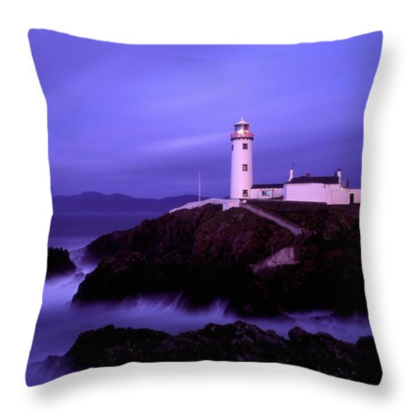 Newcastle, Co Down, Ireland Lighthouse Throw Pillow by The Irish Image Collection