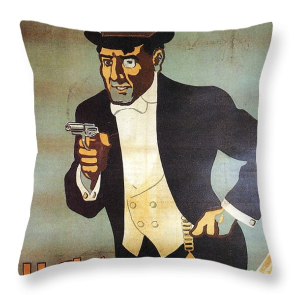Nick Carter Throw Pillow by Nomad Art And  Design