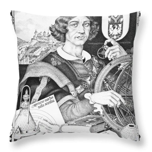 Nicolaus Copernicus, Polish Astronomer Throw Pillow by Omikron