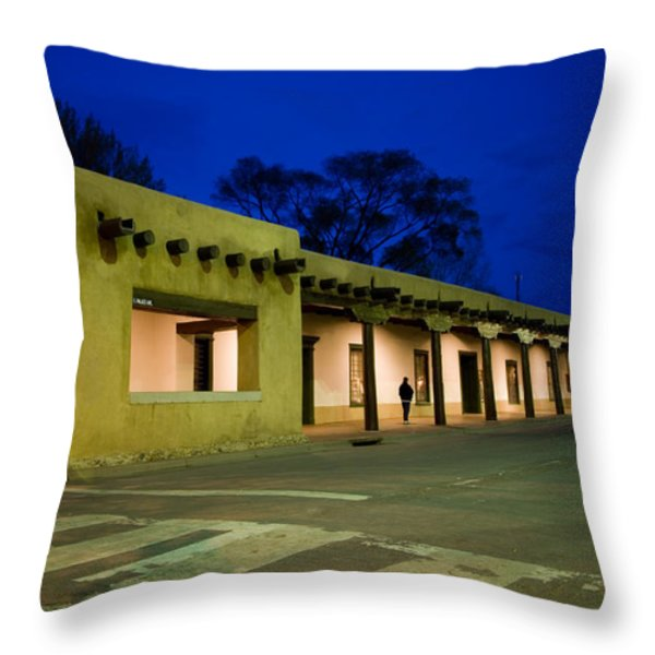Night Falls On The Palace Of The Throw Pillow by Stephen St. John