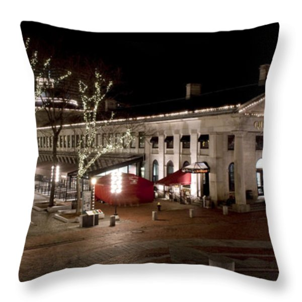 Night Market Throw Pillow by Greg Fortier