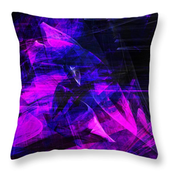 Night Rider . A120423.936.693 Throw Pillow by Wingsdomain Art and Photography
