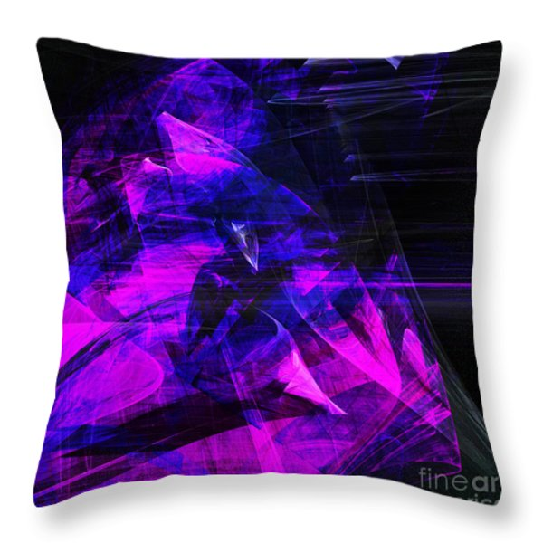 Night Rider . Square . A120423.936.693 Throw Pillow by Wingsdomain Art and Photography