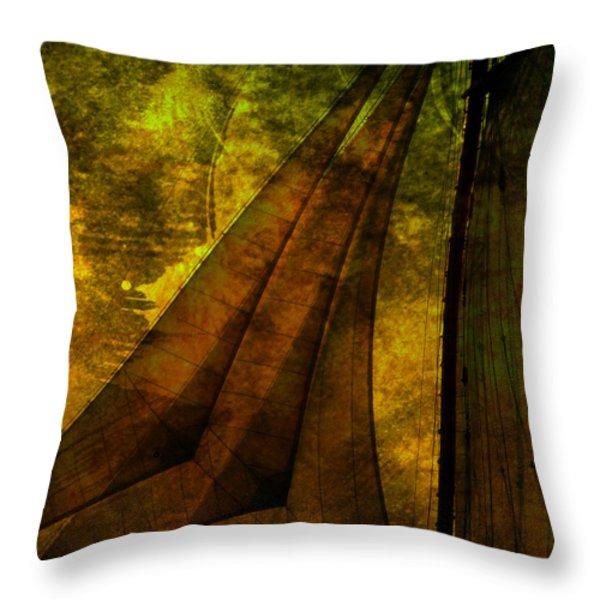 Night Sailing Throw Pillow by Susanne Van Hulst