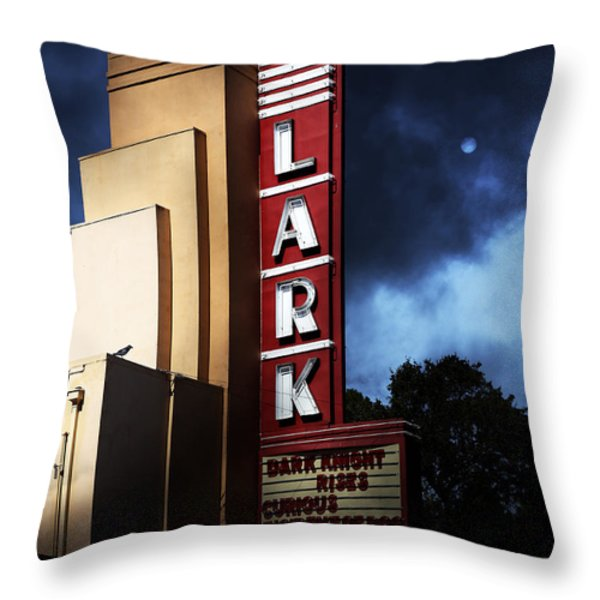 Nightfall At The Lark - Larkspur California - 5d18482 Throw Pillow by Wingsdomain Art and Photography