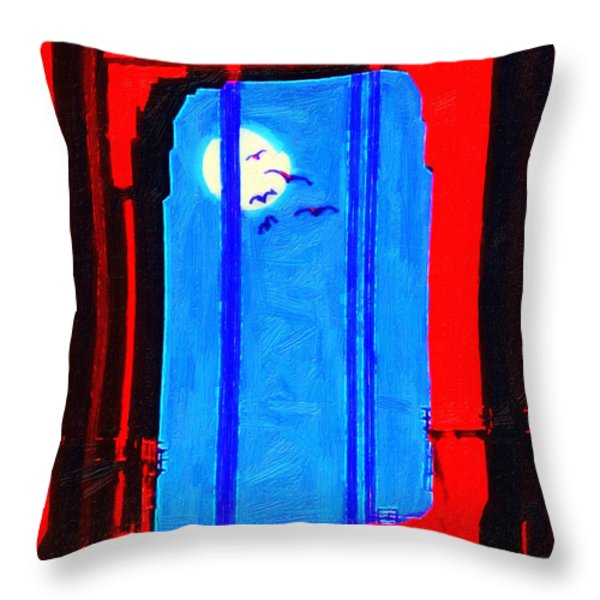 Nightfall Through The Golden Gate Throw Pillow by Wingsdomain Art and Photography