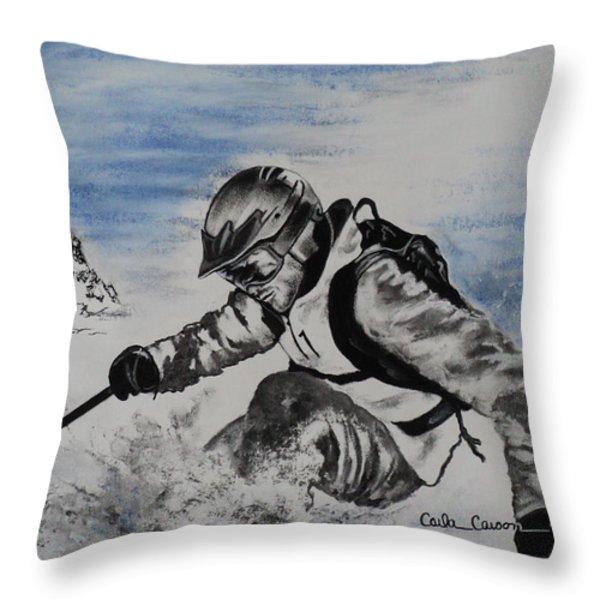 No Fear Throw Pillow by Carla Carson