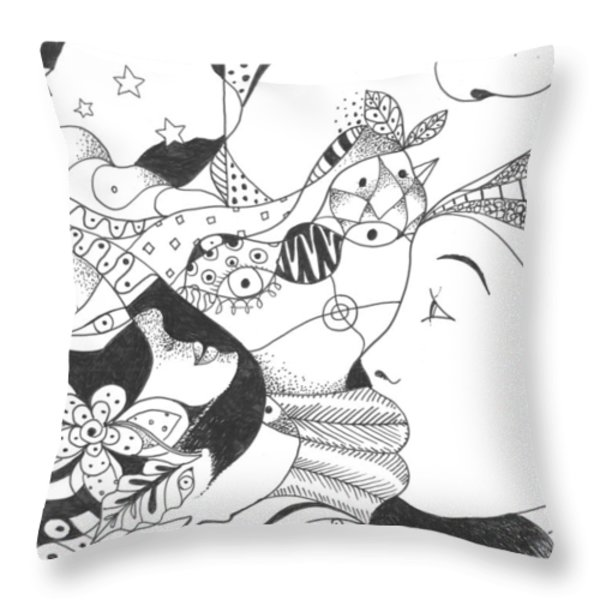 No Ordinary Dream Throw Pillow by Helena Tiainen