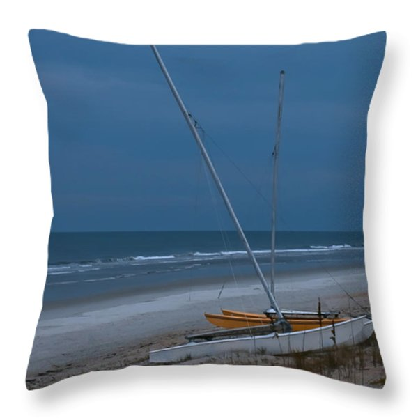 No Sailing Today Throw Pillow by DigiArt Diaries by Vicky B Fuller
