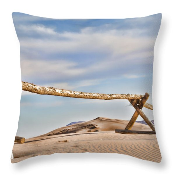 No Trespassing Throw Pillow by Heather Applegate