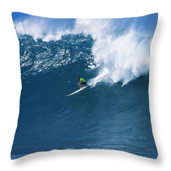 Noah At Waimea Throw Pillow by Vince Cavataio - Printscapes
