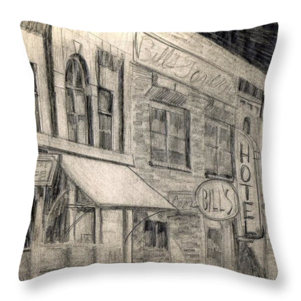 Noir Street Throw Pillow by Mel Thompson