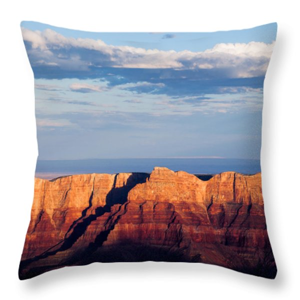 North Rim At Sunset Throw Pillow by Dave Bowman