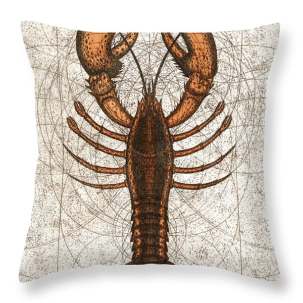 Northern Lobster Throw Pillow by Charles Harden