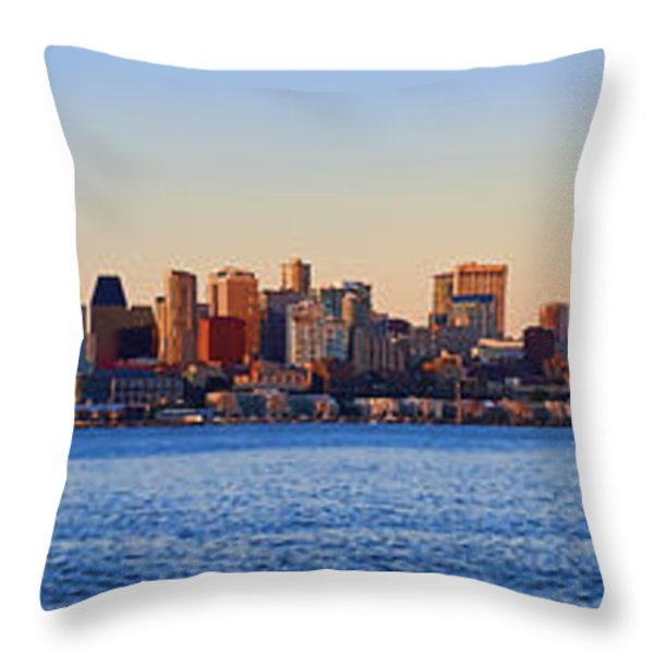Northwest Jewel - Seattle Skyline Cityscape Throw Pillow by James Heckt