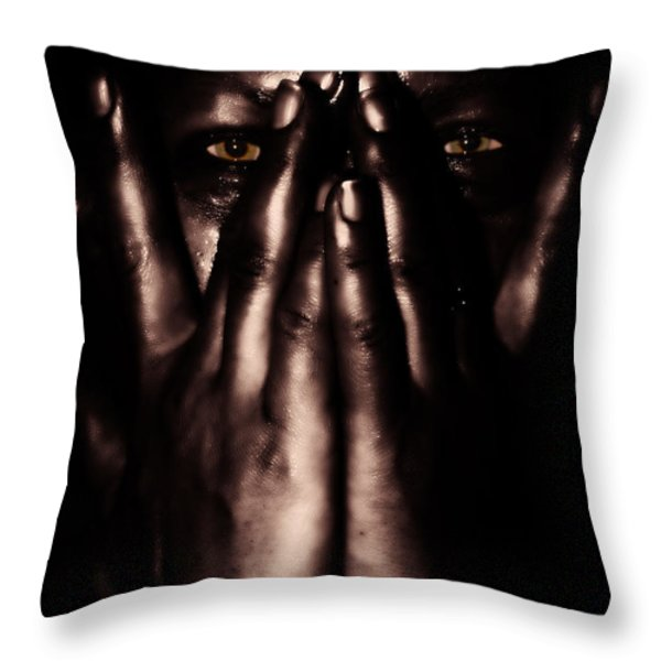 Not My Dark Soul.. Throw Pillow by Stelios Kleanthous