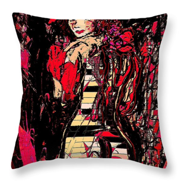 Nude 4 Throw Pillow by Natalie Holland