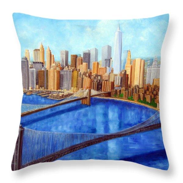 Ny City Resurrection Throw Pillow by Leonardo Ruggieri