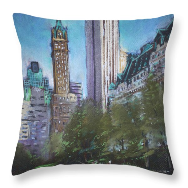 NYC Central Park 2 Throw Pillow by Ylli Haruni