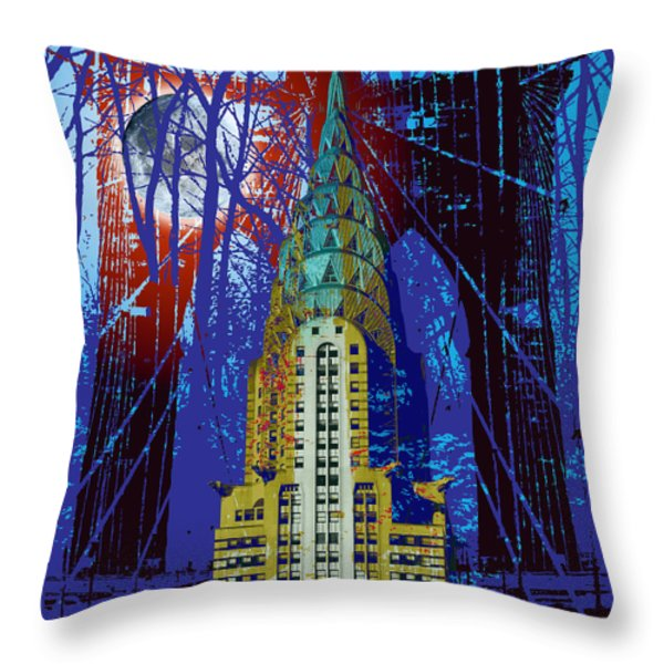 NYC Icons Throw Pillow by Gary Grayson