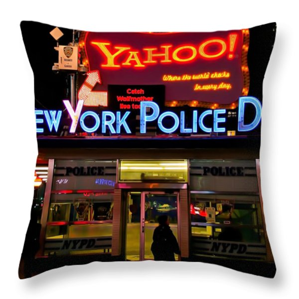 Nypd Station Throw Pillow by Michel Soucy
