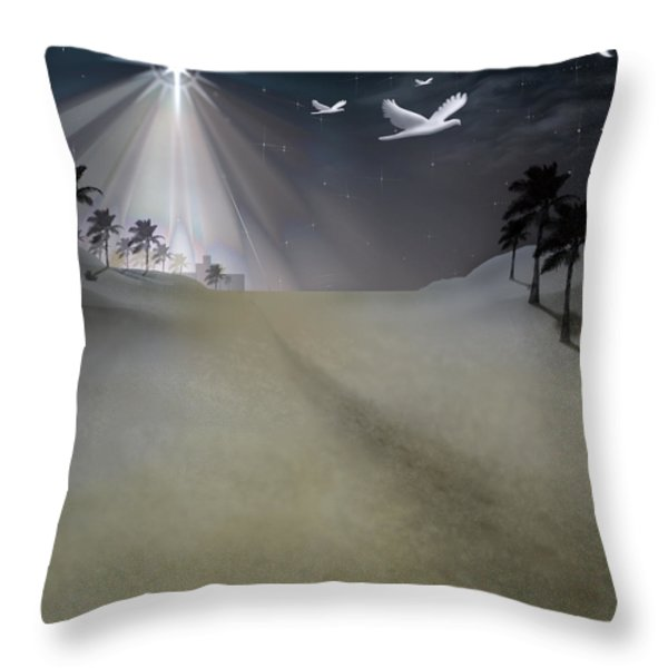 O Little Town Throw Pillow by Brian Wallace