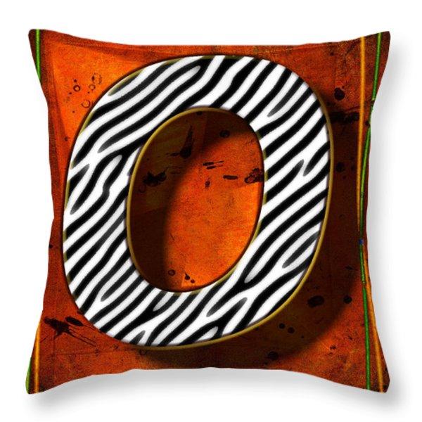O Throw Pillow by Mauro Celotti