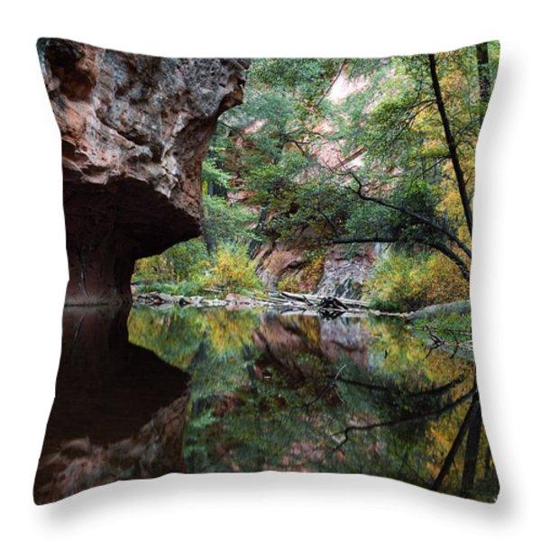 Oak Creek Canyon Reflections Throw Pillow by Dave Dilli