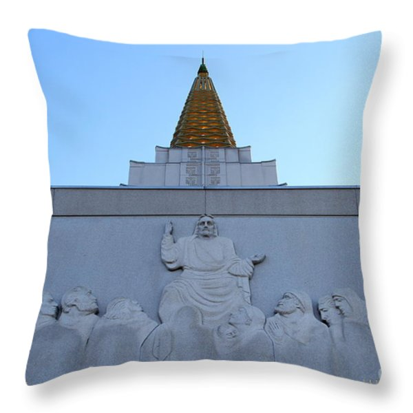 Oakland California Temple . The Church Of Jesus Christ Of Latter-day Saints . 7d11334 Throw Pillow by Wingsdomain Art and Photography