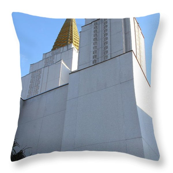 Oakland California Temple . The Church Of Jesus Christ Of Latter-day Saints . 7d11336 Throw Pillow by Wingsdomain Art and Photography