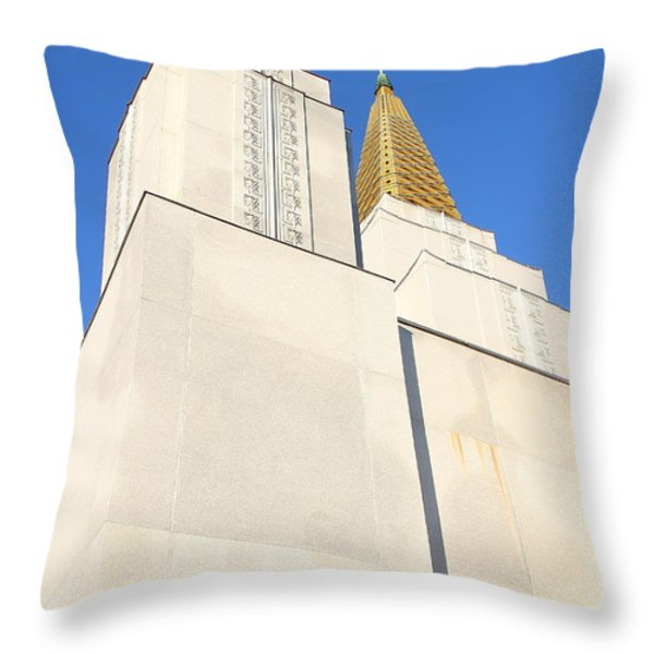 Oakland California Temple . The Church Of Jesus Christ Of Latter-day Saints . 7d11345 Throw Pillow by Wingsdomain Art and Photography