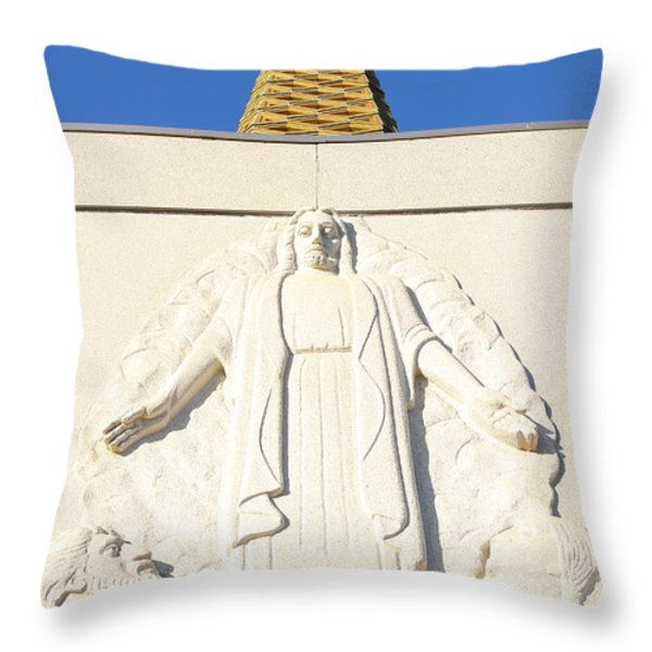 Oakland California Temple . The Church Of Jesus Christ Of Latter-day Saints . 7d11350 Throw Pillow by Wingsdomain Art and Photography