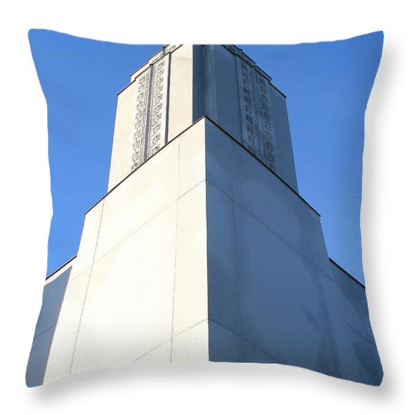 Oakland California Temple . The Church Of Jesus Christ Of Latter-day Saints . 7d11353 Throw Pillow by Wingsdomain Art and Photography